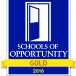 School of Opportunity logo, an open door.